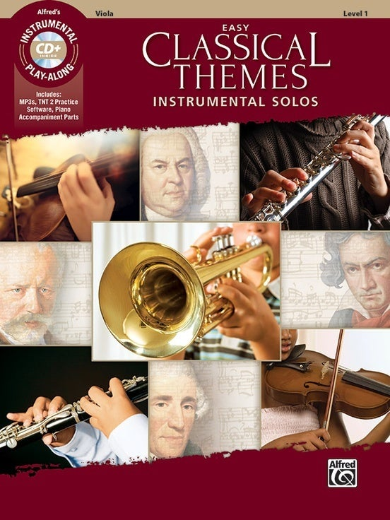 Easy Classical Themes Inst Solos Viola Book/CD