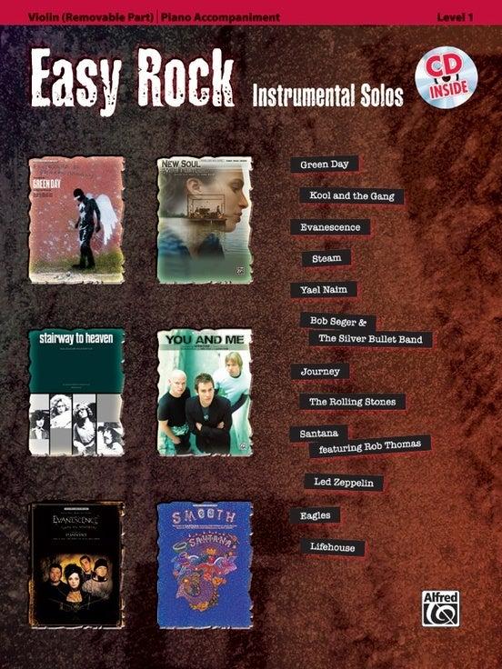 Easy Rock Inst Solos Violin Book/CD