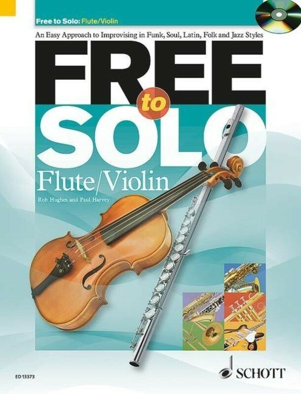 Free To Solo Flute/Violin Softcover Book/CD