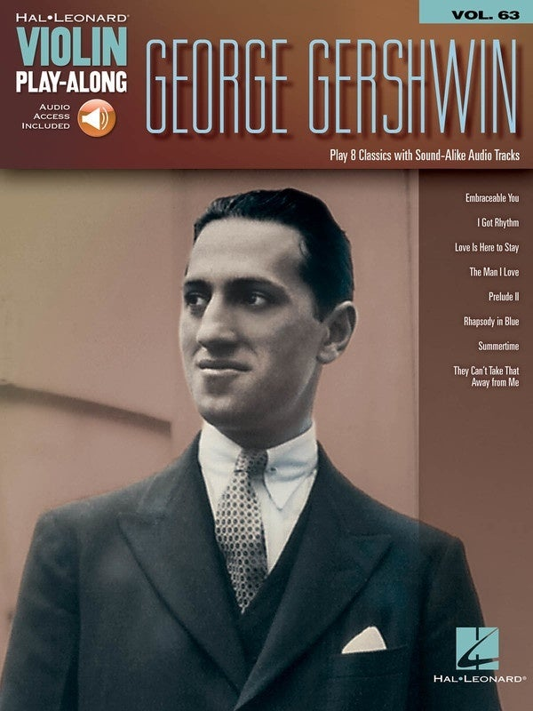 George Gershwin Violin Playalong V63 Book/Online Audio (Softcover Book/Online Audio)