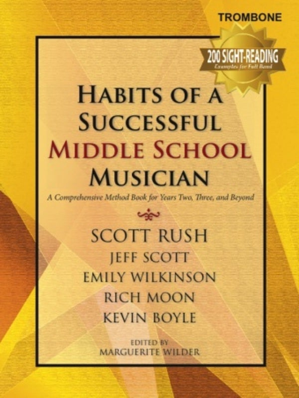 Habits Successful Middle School Trombone (Softcover Book)