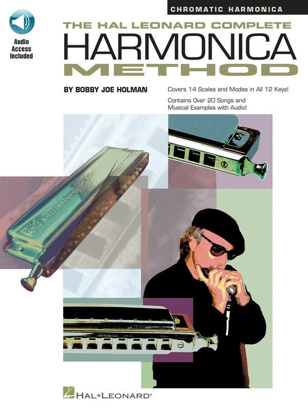 HL Complete Chromatic Harmonica Method Book/Online Audio (Softcover Book/Online Audio)