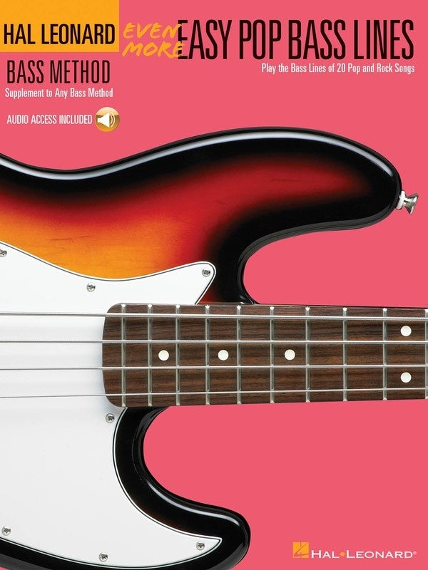 HL Even More Easy Pop Bass Lines Book/Online Audio (Softcover Book/Online Audio)