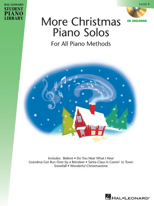 HLSPL More Christmas Piano Solos Lev 4 Book/CD (Softcover Book/CD)
