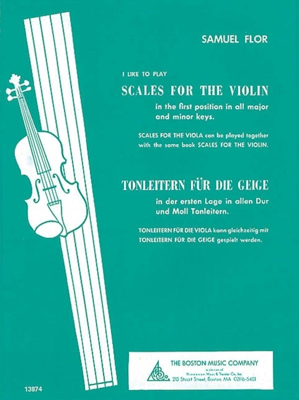 I Like To Play Scales For The Violin (Softcover Book)