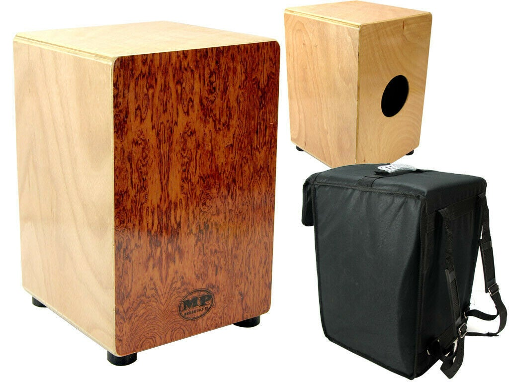 Mano Percussion Cajon Wooden Rhythm Box with Internal Snare Wires Rosewood