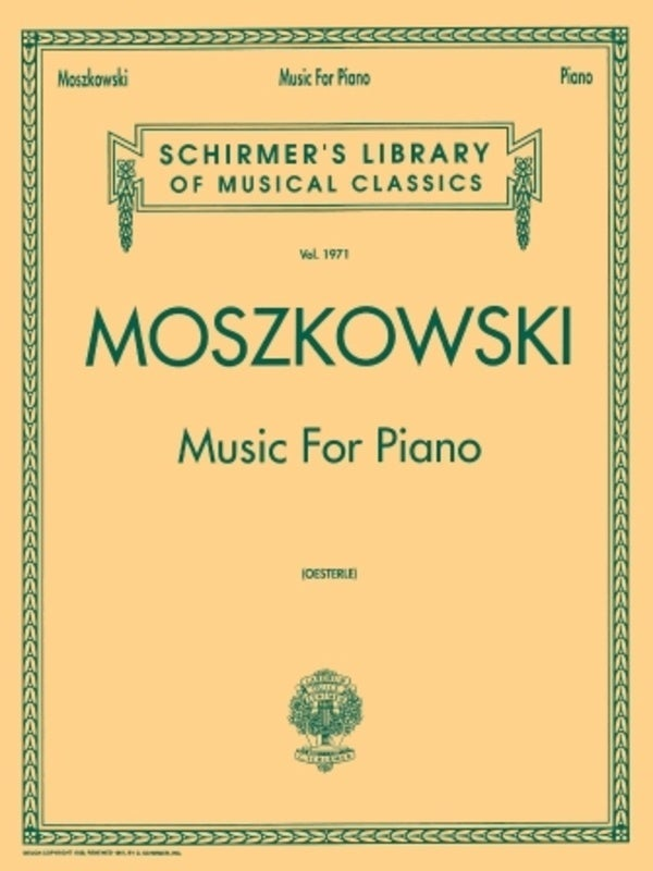 Moszkowski - Music For Piano (Softcover Book)