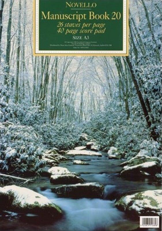 Novello Manuscript Book 20 A3 Score Pad 40Pg 26St