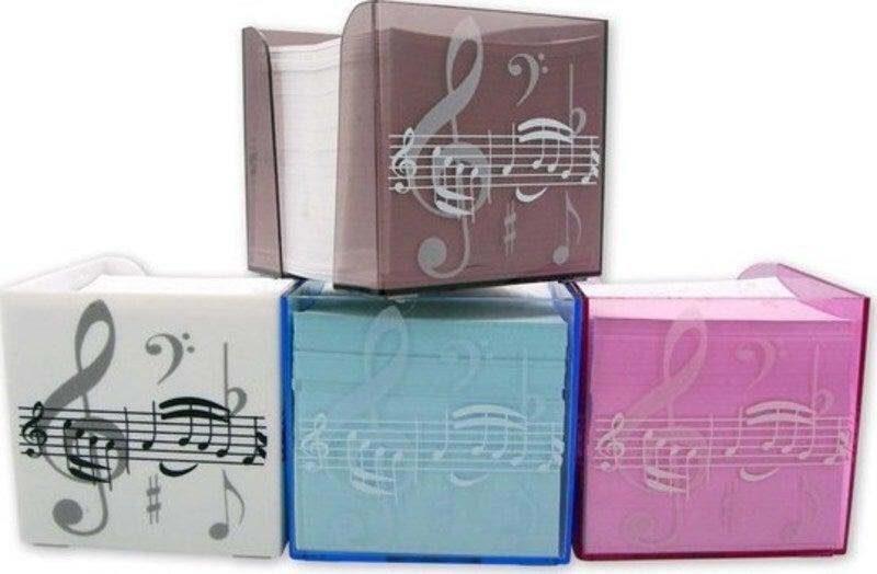 Pink Treble Clef Memo Note Block
