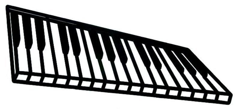 Silhouette Moulded Black Plastic Keyboard