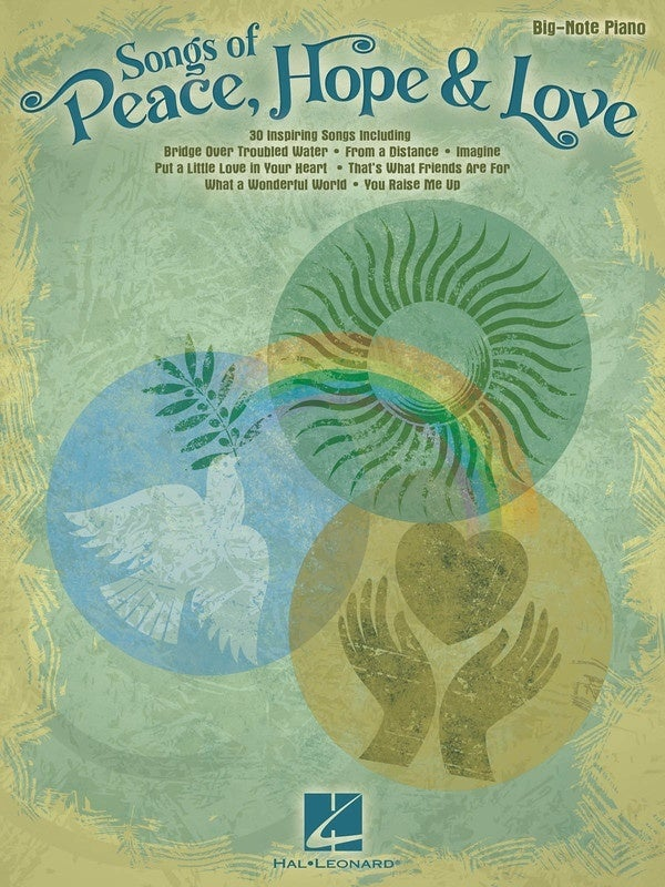 Songs Of Peace Hope And Love Big Note Piano (Softcover Book)