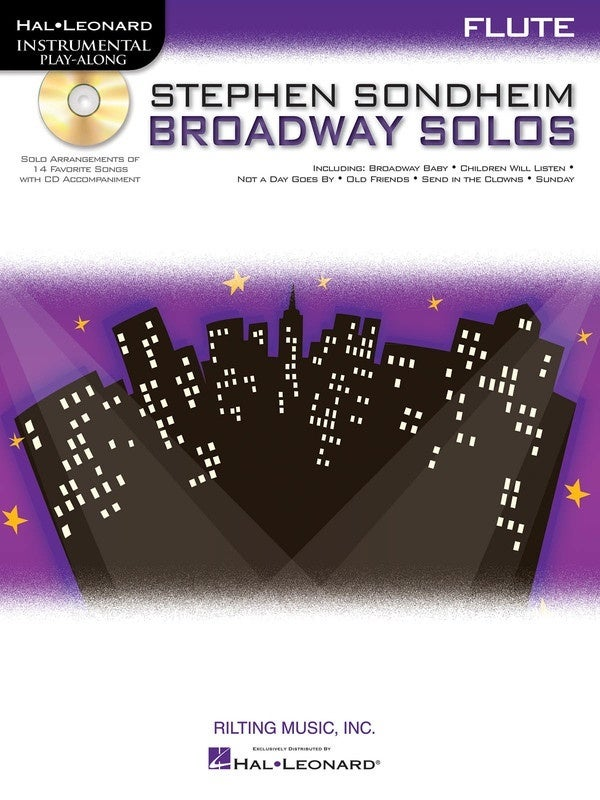 Stephen Sondheim Broadway Solos Book/CD Flute (Softcover Book/CD)