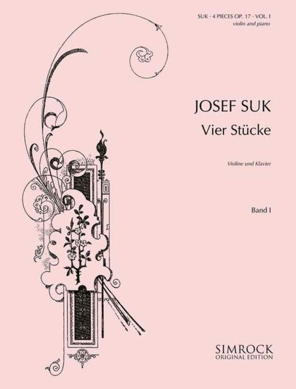 Suk - 4 Pieces Op 17 Vol 1 (Nos 1-2) Violin/Piano (Softcover Book)