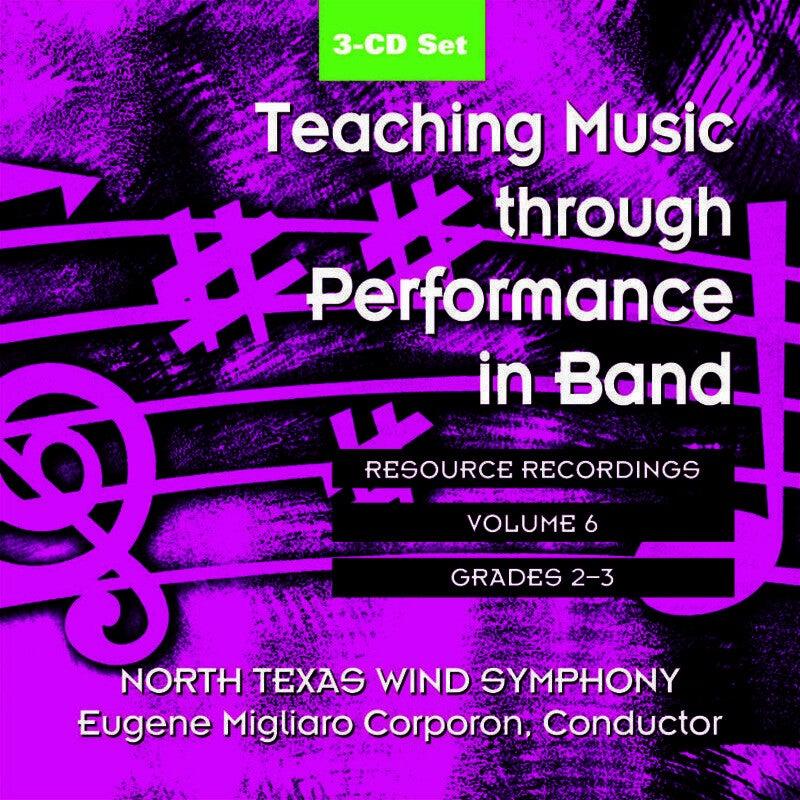 Teaching Music Through Perf Band CD V6 Gr 2 And 3 (3-CD Set) Book