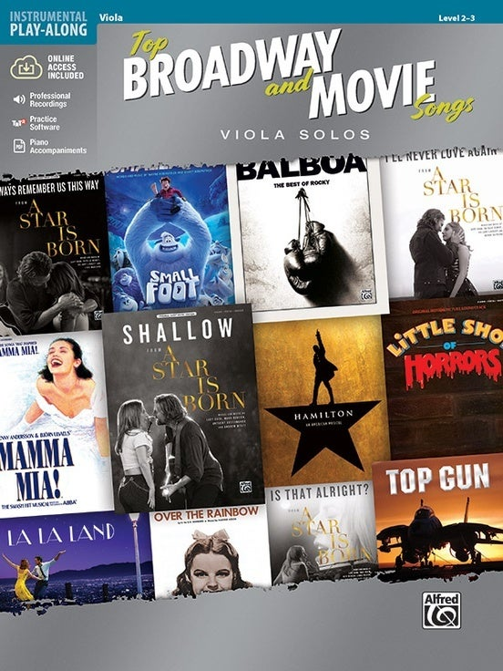 Top Broadway And Movie Songs Viola Solo Book/Oa