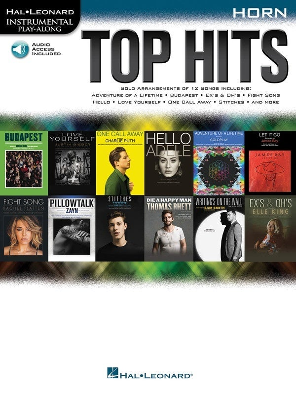 Top Hits Horn Book/Online Audio (Softcover Book/Online Audio)
