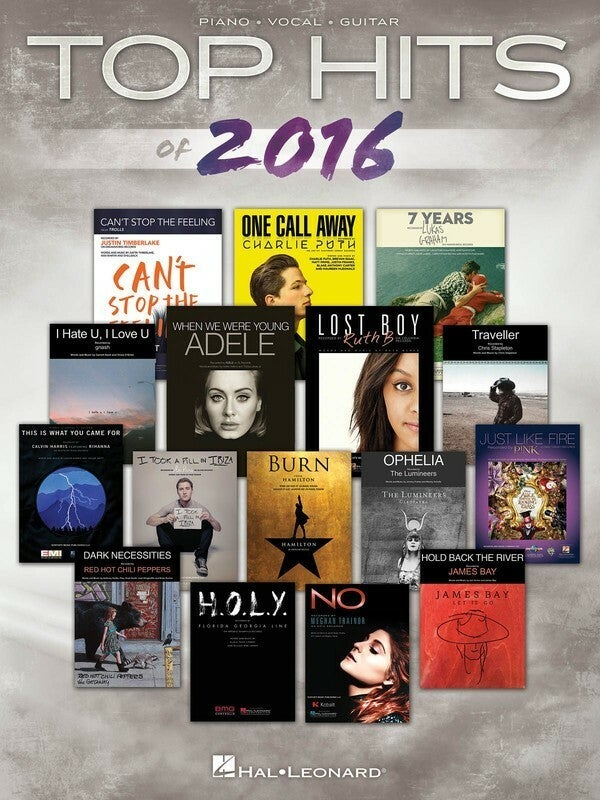 Top Hits Of 2016 PVG (Softcover Book)