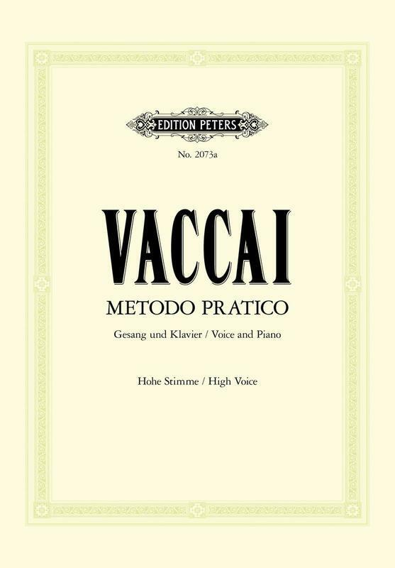Vaccai - Practical Method High Voice (Softcover Book)