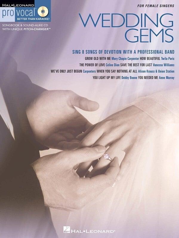 Wedding Gems Pro Vocal Womens V8 Book/CD (Softcover Book/CD)