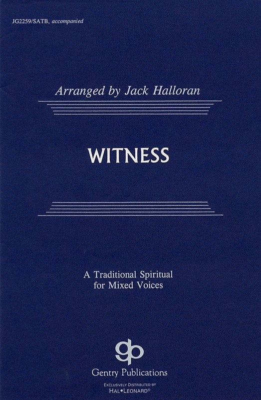 Witness SATB (Octavo)