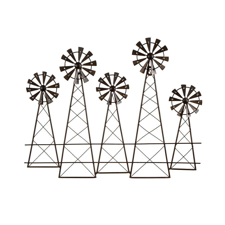 Artisan Metal 5 Windmill Wallart 48 X 39CM