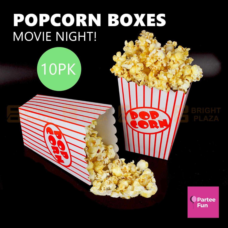 10 x Popcorn Boxes Circus Sleepover Birthday Party Supplies Movie Night Carnival Box