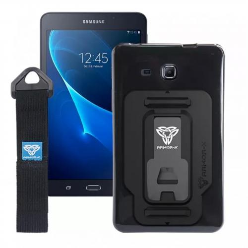 Armor-X Protective TPU Case Only for Galaxy Tab A 7.0 - Black (Back Cover case only, not come with Hand Strap)