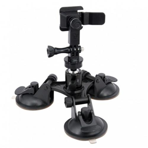 Armor-X X-Mount Accessories X76T - Triple Suction Cup Mount (Work with Armox-X Tablet Case /Adapter with Type-T Interface only)