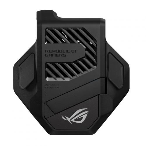 ASUS AeroActive Cooler 5 for ASUS Rog Phone 5 - Extra Cooling Boost, Compact, Aura Lightning, Kick Stand Design, with 3.5mm headphone port.