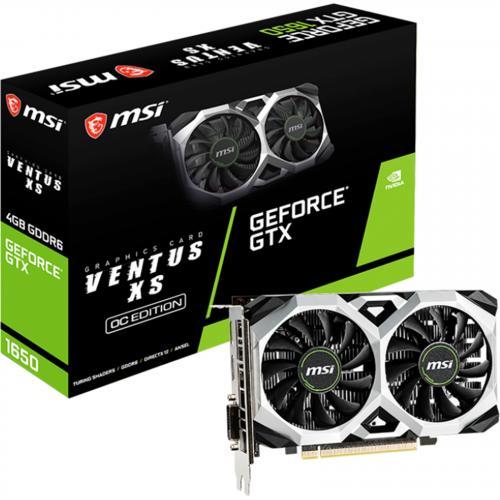 MSI GeForce GTX 1650 VENTUS XS OC 4GB GDDR6, PCIe 3.0