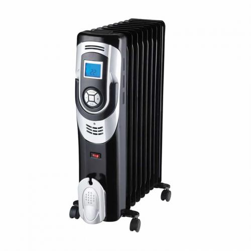 Olimpia Splendid Caldorad 9 2000W Oil Filled 9 Column Heater Digital controls with LCD Display, 24h timer, Safety thermostat, Noiseless operation, Tip-over switch, comfort level thermostat.