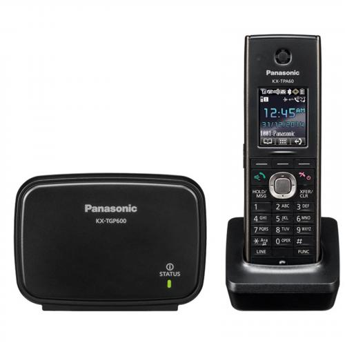 Panasonic KX-TGP600 SIP (VoIP) DECT Base One DECT Cordless Phone and Charger with option to add up to 8 phones (KX-TPA60 or KX-TPA65)