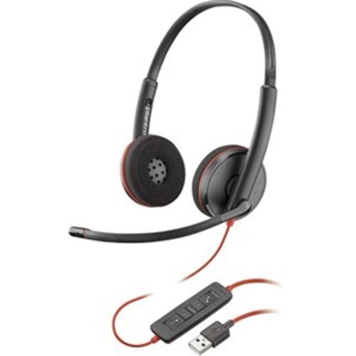 Poly 209745-201 BLACKWIRE C3220 USB-A (New -201 SKU) stereo UC USB-A headset --by Plantronics