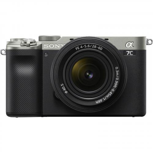 Sony Alpha a7C Mirrorless Digital Camera with 28-60mm Lens - Silver - 24.2MP Full-Frame Exmor R BSI Sensor, 5-Axis In-Body Image Stabilization, 693-Point Hybrid AF System, BIONZ X Image Processor