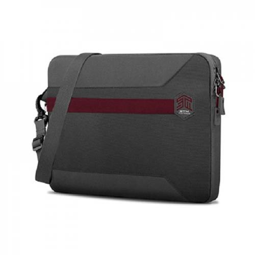 "STM Blazer Sleeve with Shoulder Strap for 15"" Laptop/Notebook Suitable for Surface Book 15"" & Macbook Pro 15"" & 15"" Ultrabook --- Granite Grey"