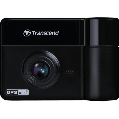 Transcend DrivePro 550 Dash Cam with Dual Lens, Built-In Wi-Fi, 2.4inch Screen, 1080P Video Recording, GPS/GLONASS receiver, 64G Micro SD Card included