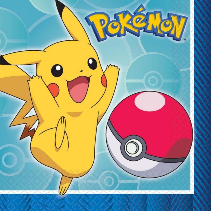 Pokemon Core Beverage Napkins 16 Pack