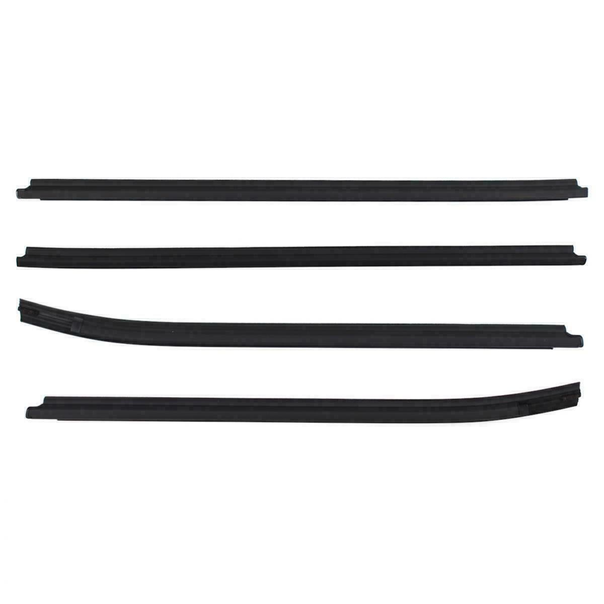 4pcs Black Outer Window Belt Mould Suits Toyota Hilux Double Cab SR5 2005-2015