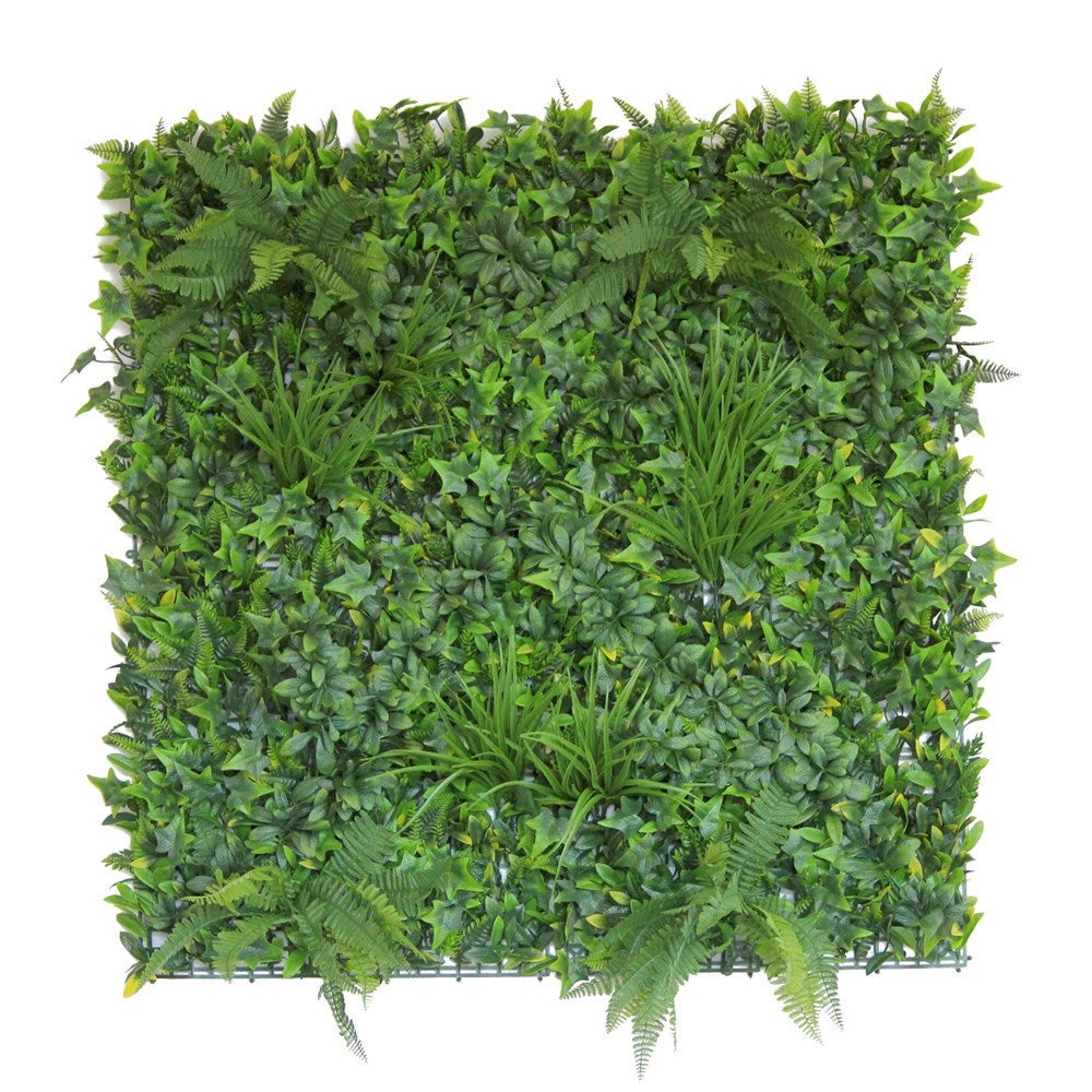 Boston Fern Artificial Hedge Tile: 100cm x 100cm