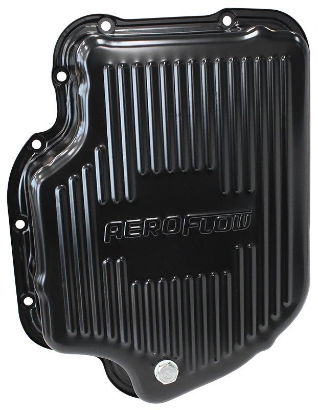 "Aeroflow TH400 Deep Transmission Pan Black W/ Drain Plug 3"" Deep AF1826-3001"