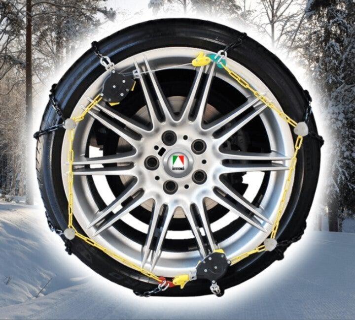 Autotecnica 12mm snow chains Premium Autofit fits 255/45x19 tyre size