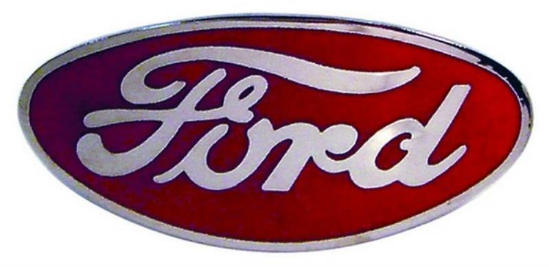 Bob Drake Red Porcelain Emblem Suit 1932 for Ford Bullnose BDB-8212-STR-R