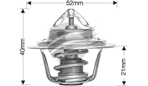 Dayco Thermostat for Honda Civic 3/1973 - 8/1976 1.2L 4 cyl 8V SOHC Carb SB EB1
