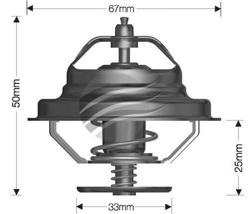 Dayco Thermostat for Volkswagen Transporter 8/1997 - 7/2004 2.5L 5 cyl 10V SOHC MPFI T4 85kW AVT