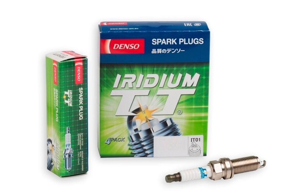 Denso Iridium TT spark plugs Audi 100 44 44Q C3 2.3L 5Cyl 10V NF