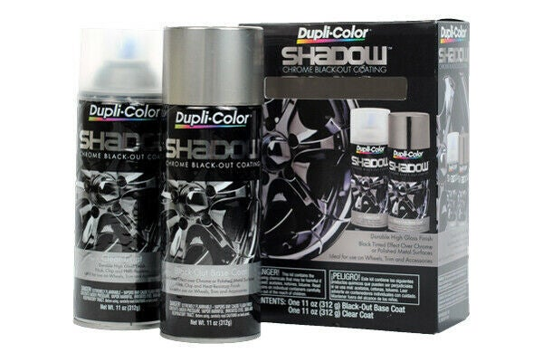 Duplicolor Shadow Chrome Black Out Coating Kit (black/clear) SHD1000