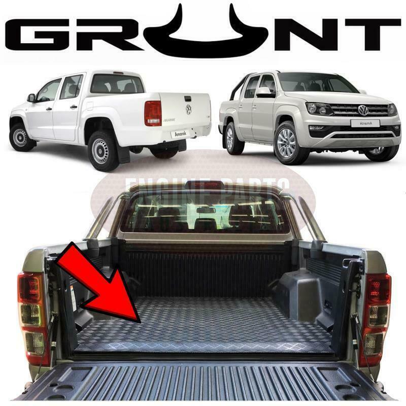 Grunt 4x4 Rubber Checker Plate Ute Mat Volkswagen VW Amarok With Tub Liner