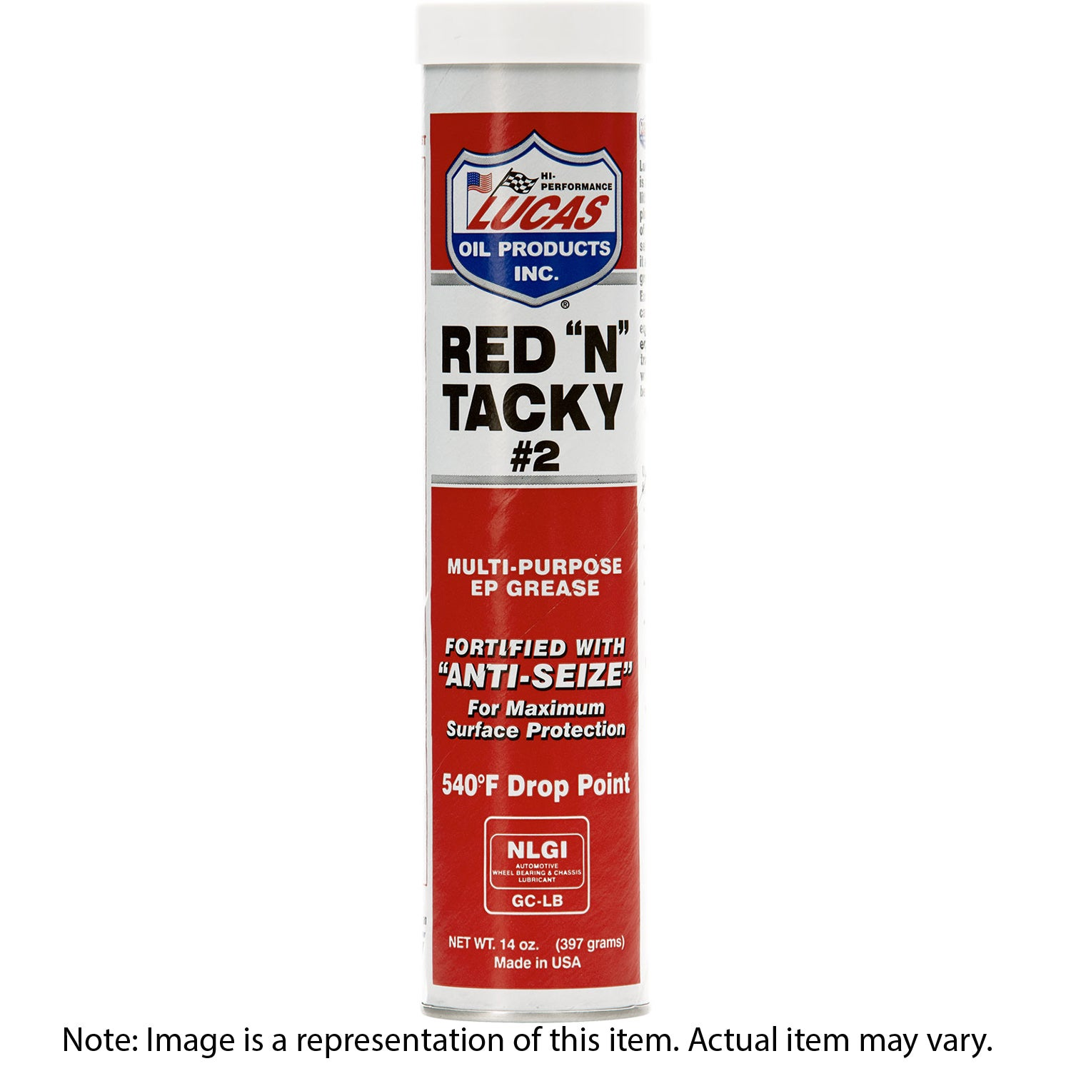 LUCAS Grease Red and Tacky Cartridge/Tube 397g