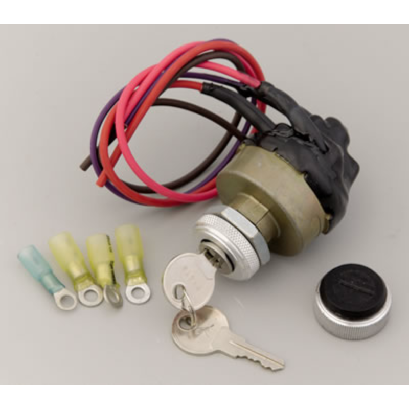 """Painless Wiring Universal Waterproof Keyed Ignition Switch Fits 3/4"""" Dia Hole"""