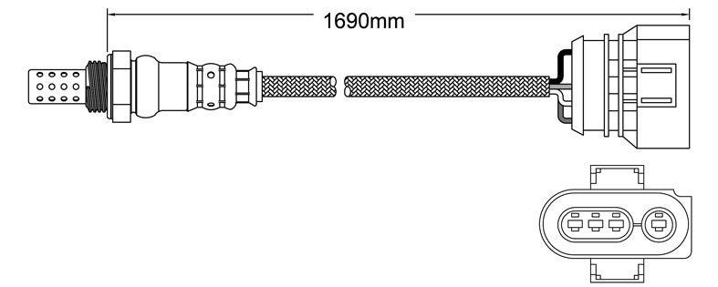 Post-Cat Left oxygen sensor for Audi S6 ANK V8 4.2 9/00-1/05